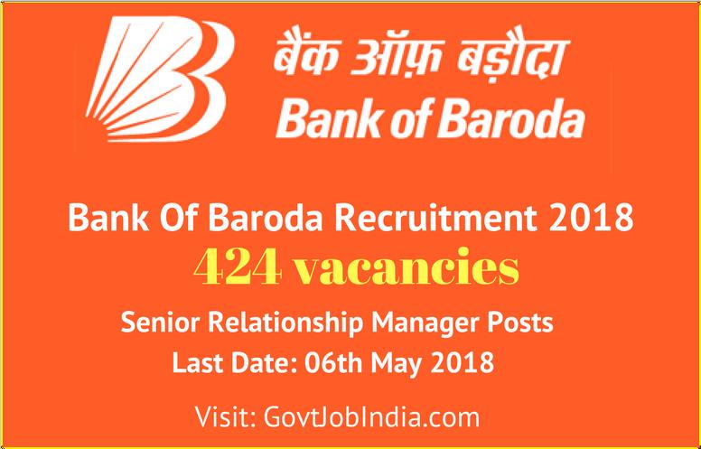 Bank Of Baroda BOB Recruitment @ bankofbaroda.co.in