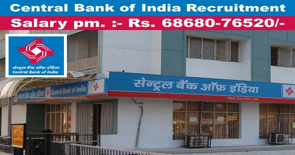 Central Bank of India Recruitment 2018 notification for Chief Information Security Officer Vacancy