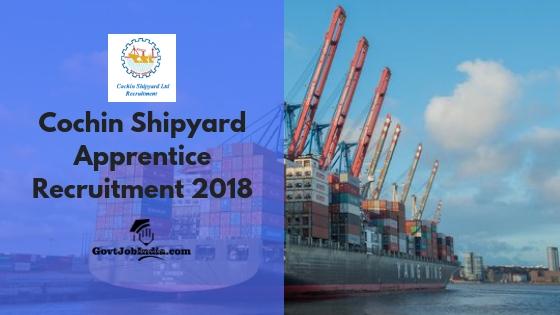 cochin shipyard apprentice recruitment 2018 | trade apprentice