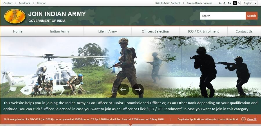 Indian Army Recruitment Open Rally