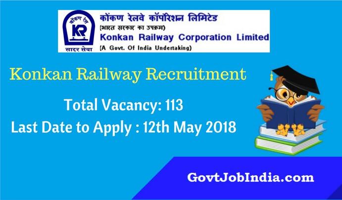 Konkan Railway recruitment notification