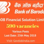 BOB Financial Solutions Limited (BFSL) Recruitment 2018