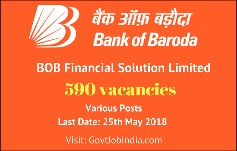 BOB Financial Solutions Limited (BFSL) Recruitment 2018