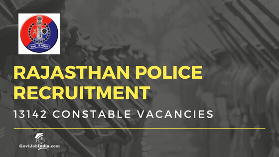 Rajasthan Police Constable Vacancy
