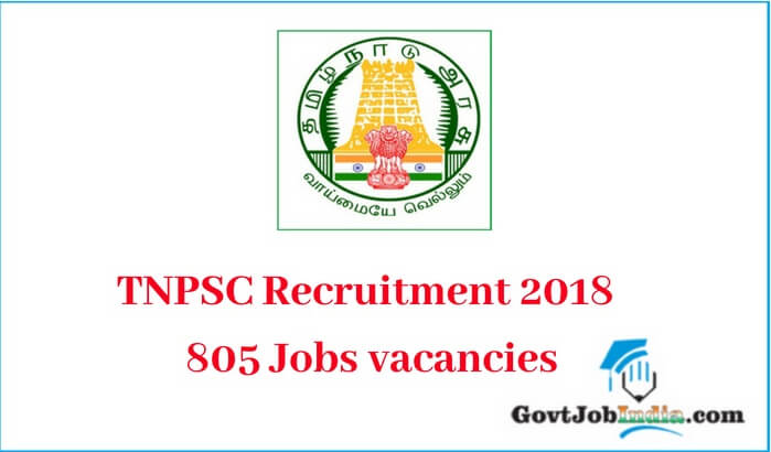 TNPSC Recruitment 2018 Notification