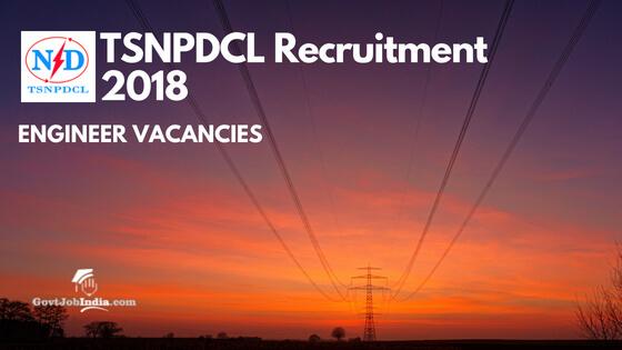 TSNPDCL Recruitment Notification