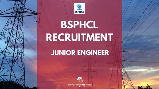 BSPHCL JE Vacancy