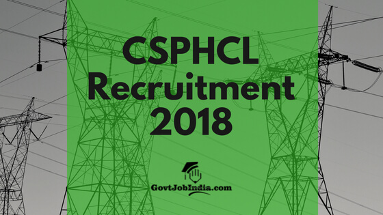 CSPHCL Line attendant recruitment 2018