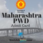 Maha PWD Jr Engineer (Civil) Admit Card