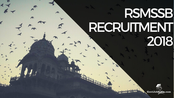 RSMSSB Recruitment Notification