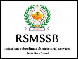 RSMSSB-Recuriment-Job-Notification