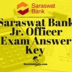 saraswat Bank JO Answer Key