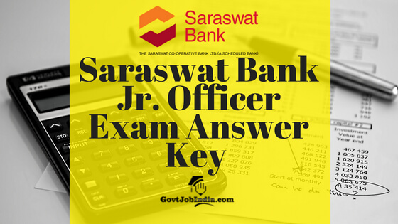 saraswat Bank JO Answer Key
