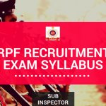 rpf si exam syllabus and exam pattern