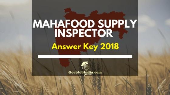 MAHAFood Supply inspector Answer Key 2018