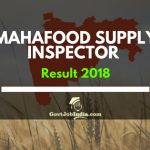 MAHAFood Supply inspector result 2018