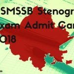 RSMSSB Steno Hall Ticket/ Call letter