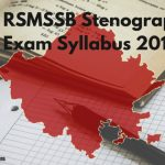 RSMSSB Stenographer Syllabus 2018 Rajasthan Steno Vacancy