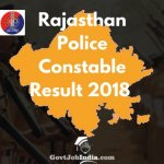 Rajasthan police Constable result 2018