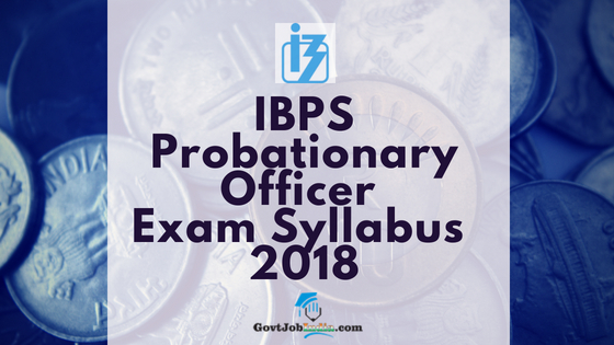 IBPS PO Syllabus Download pdf