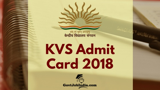 Kendriya Vidyalaya Admit Card 2018 Download