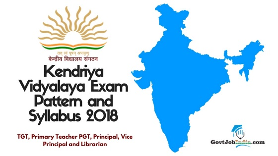 kvs prt syllabus 2018 pdf download kvs primary teacher exam pattern