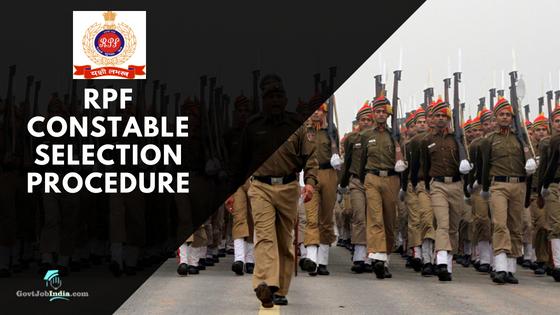 RPF Constable Selection Process 2018