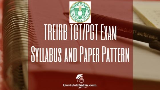 TREIRB Exam Pattern Syllabus pdf download