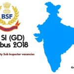 BSF SI Syllabus and exam Pattern