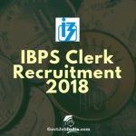 IBPS Clerk Vacancy Notification 2018