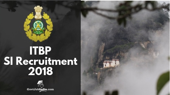 ITBP SI Bharti 2018