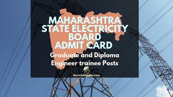 MSEB Trainee Engineer Hall Ticket 2018