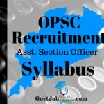 OPSC ASO Recruitment Syllabus