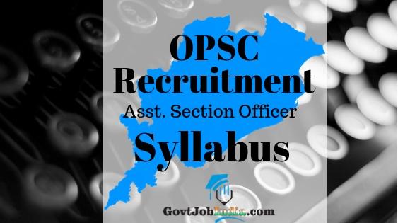 OPSC ASO Recruitment Syllabus