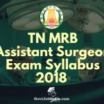 MRB Assistant Surgeon Syllabus pdf download 2018