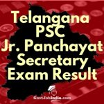 TSPSC Junior Panchayat Secretary Exam result