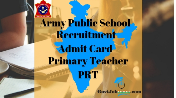 AWES PRT Primary Teacher Admit Card