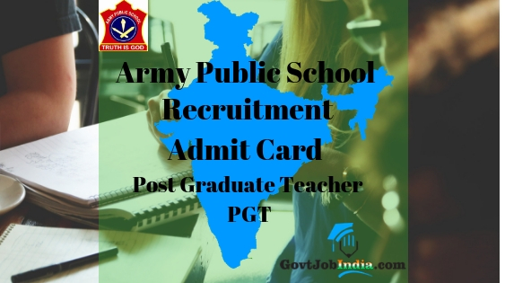APS PGT Admit Card