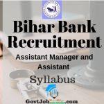 Bihar Bank Recruitment Syllabus
