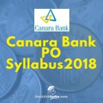 Canara Bank PO Syllabus Download
