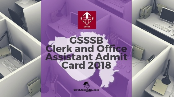 GSSSB Clerk / Office Assistant Exam Call Letter