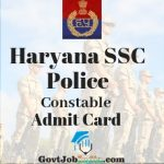 Haryana SSC Constable Admit Card