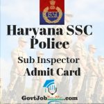 Haryana Police Sub Inspector Admit Card