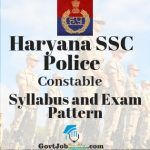 Haryana Constable Police Recruitment Syllabus
