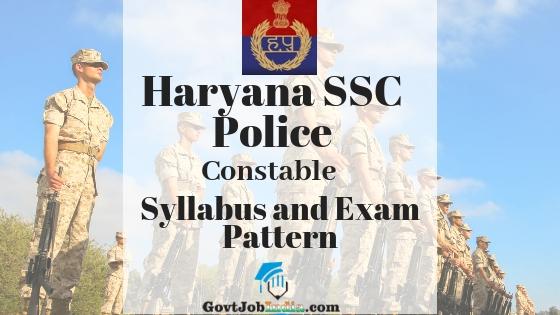Haryana Constable Police Recruitment Syllabus