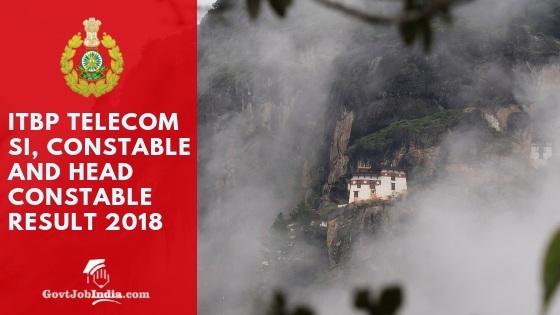 ITBP Telecom SI Result 2018