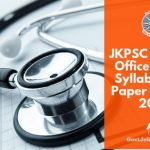 JKPSC Medical Officer Exam Syllabus pdf download