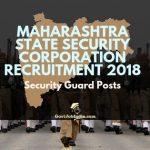 MSF Security Guard Recruitment 2018