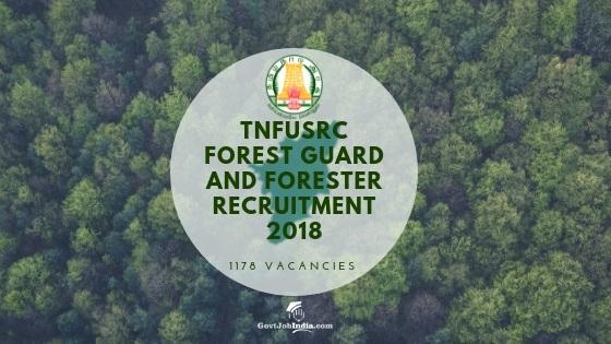 Tamil Nadu Forest Guard Recruitment 2018
