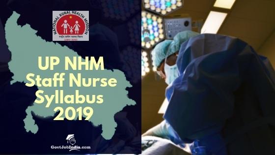 UP NHM Staff Nurse Syllabus 2019 | Download PDF - NHM UP